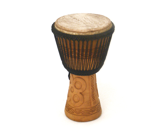 "BUCARA DJEMBE 13"" DOUBLE STRUNG CARVED"